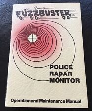 Vintage 1975 Electrolert Fuzzbuster Ii Radar Detector Operation Manual