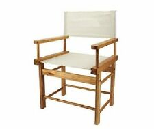 Vintage Design Canvas Seat & Back Panel Wooden Small Directors Chair Boxed New