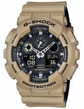 Casio G-Shock Men's GA100L-8A Khaki & Black Analog Digital Chronograph Watch