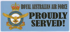 RAAF PROUDLY SERVED LAMINATED VINYL STICKER 80MM X 180MM