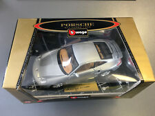 Burago 1/18 Scale Diecast 3673 Porsche 911 Turbo 1997 Dark Red Model Car