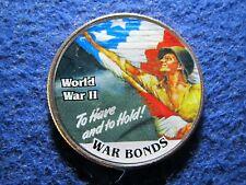 WWII War Bonds  Color Overlay on Kennedy Half Dollar