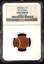 No Date Lincoln Cent certified Off Center Mint Error by NGC!  sku 085