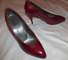 CHARLES JOURDAN PARIS burgundy dark red sexy pumps shoes 5 M  worn once