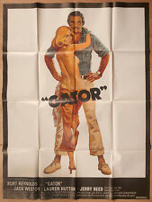 "'QATOR' FRENCH VINTAGE 1976 CINEMA POSTER FEATURING BURT REYNOLDS 63"" x 47"""