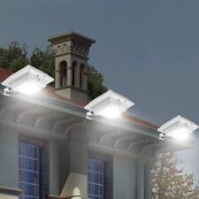LED Solar Lights Lamp 1 Pack Waterproof Outdoor Garden Flood Path Wall Mount ABS