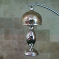 "Vintage Blown Glass Mercury & Gold Glass Table Lamp Christmas Ornament 4.5"""