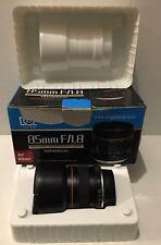 85mm F/1.8 Telephoto Lens