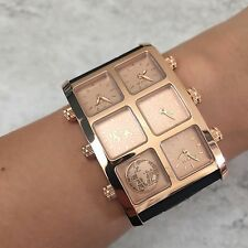 IceLink Generation 6TZ 6 Time Zone Watch Womens Rose Gold Ice Link Authentic