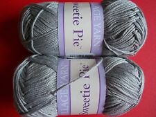 Village Yarn Sweetie Pie 6-ply baby yarn, Kitty (gray), lot of 2 (138 yds ea)