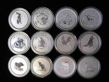 LUNAR SERIES I (12) 1 oz .999 SILVER COIN SET Australia Perth Mint 1999-2010.