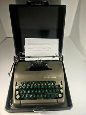 Vintage Smith Corona Sterling Typewriter With Case + New Ribbon