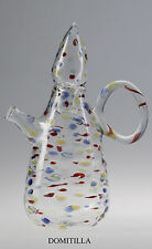 "Massimo Lunardon Teekanne ""DOMITILLA"" mit 6 Tassen. Handgeblasenes Kunstglas"
