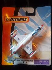 2006 Matchbox Sky Busters USAF Thunderbirds F16 Air Force Plane (New IN Package)