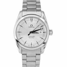 Omega Seamaster Aqua Terra серебро 36 мм дата кварцевые часы из нержавеющей стали 2518.30
