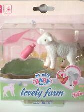 BRAND NEW My Mini Baby Born Lovely Farm Animals With Sound Lamb