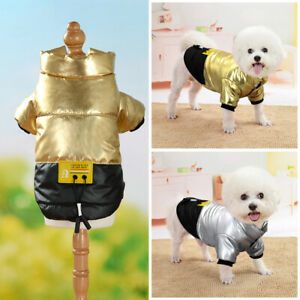 Winter Pet Cat Dog Down Jacket Coat Warm Waterproof Padded Puppy Clothes Apparel
