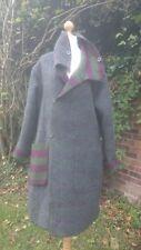 """Quirky Arty en capas reversible lana abrigo por GUDRUN Sjoden L 16 18 48"""" pecho"""