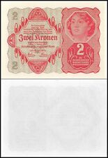 Austria 2 Krone Banknote, 1922, P-74, UNC