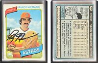 Randy Niemann Signed 1980 Topps #469 Card Houston Astros Auto Autograph