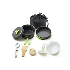 Honest Portable Camping cookware Mess kit Folding Cookset for Hiking Backpack...