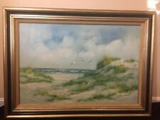 """Majestic, Original, """"Beach"""" Landscape oil on Canvas Italian Painting by Gianelli"""