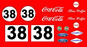#38 Allan Moffat Coca Cola Trans Am Mustang 1/43rd Scale Slot Car Decals