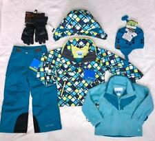 NWT COLUMBIA Girls 3in1 Winter Jacket,Ski/Snow Pants Hat,Gloves,SnowSuit Set 4/5