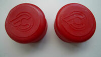 Vintage NOS Classic 80's Cinelli  RED Flying C Bar End plugs for your Colnago