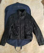 RALPH LAUREN POLO Black LEATHER MOTO JACKET (Men's) Large w/dust cover