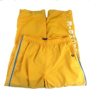 Abercrombie and Fitch Gym Isse Yellow Nylon Size Medium Sailing Gear Pants
