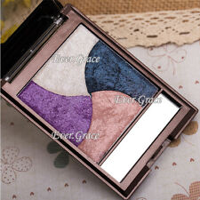 4 Colors Makeup Baked 3D Eyeshadow Palette Mineral Highlight Baking Eye Shadow