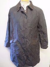 Ladies Barbour L321 Newbury Waxed Cotton Coat Jacket UK 18 Euro 44 - Brown