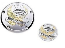 Harley twin cam eagle live to ride derby timer cover dyna softail touring fxd