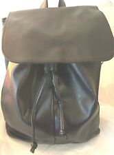 Women's Girls Mini Black Faux Leather Backpack School Travel New