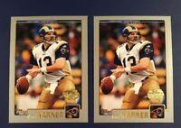 2001 Topps Collection # 133 KURT WARNER Lot 2 Gold Stamped RAMS RARE !