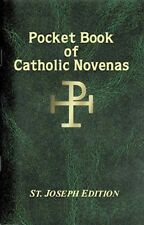 POCKET BOOK OF CATHOLIC NOVENAS - PAPERBACK - STATUES CANDLES PICTURES LISTED