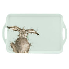 Wrendale Hare Large Tray Serving Dinner Lap Tray Blue Cute Animals Portmeirion