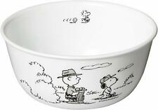 Snoopy Peanuts x Corelle Monotone Large Bowl Tableware Japan New