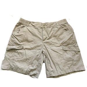 "Columbia Women's Casual Outdoor Chino Shorts Plus Size 1X Khaki Beige 37"" Waist"