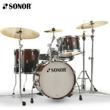 NEW Sonor AQ2 Series BOP Drum Shell Pack Brown Fade 18x14_14x13_12x8_14x6