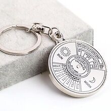 FleeMan Perpetual 50 Year Calendar Metal Key Chain Key Ring | Corporate Gift Set