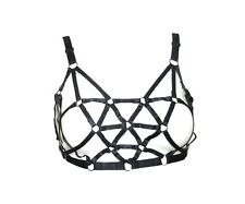 Crazybras Multi Triangle Black Elastic Harness Bra - Multi Size (32-42 inches)