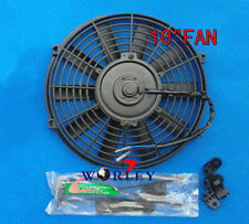 """10"""" inch 12V Universal Electric Cooling Fan Thermo Fan + Mounting kits"""