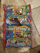 New listing 2 Bags World's Candy Sticks 25 box/bag Scooby-Doo Flintstones Tom & Jerry 04-23