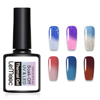 LEMOOC 12ml Nail UV Gel Polish Thermal Color Changing Soak off Nail Art UV Gel