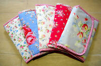Foldable baby travel changing mat for bag -Oilcloth & Cath Kidston Rose Flowers
