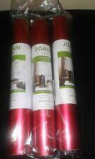 "3 Rolls American Crafts Matte Foil Adhesive Vinyl Roll 12""X36""-Crimson Joann A-3"