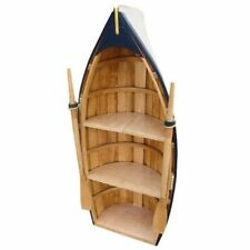 Shelf IN Bootsform- With Paddeln- Wooden Partly Coloured 90 CM