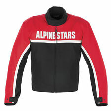 Giacca Alpinestars Barcellona in cordura con striscia, in pelle, TG: M